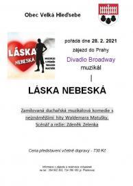 zájezd do Prahy - muzikál Láska nebeská 1